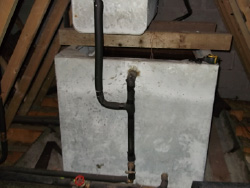 Corroded galvanised tank ... & ESI Projects: Cold Water Storage Tank Remedial Work - Environmental ...
